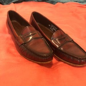 Nordstrom all leather loafers cognac brown sz 8.5